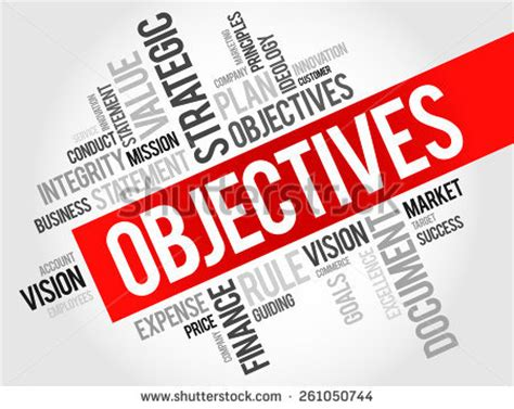 How to make an objective in thesis